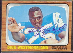 autographed 1966 topps dick westmoreland
