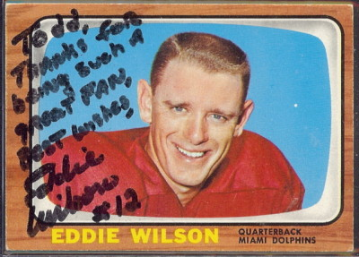 autographed 1966 topps eddie wilson