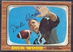 autographed 1966 topps dick wood