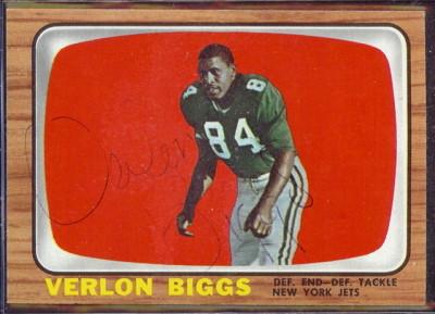 autographed 1966 topps verlon biggs