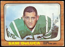 autographed 1966 topps sam deluca