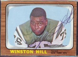 autographed 1966 topps winston hill