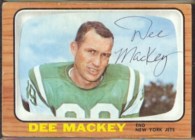 autographed 1966 topps dee mackey