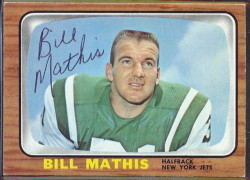 autographed 1966 topps bill mathis