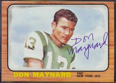 autographed 1966 topps don maynard