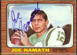 autographed 1966 topps joe namath