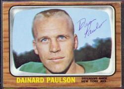 autographed 1966 topps dainard paulson