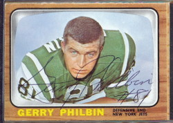 autographed 1966 topps gerry philbin