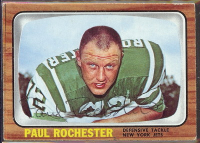 autographed 1966 topps paul rochester