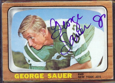 autographed 1966 topps george sauer