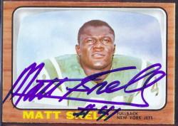 autographed 1966 topps matt snell