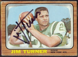 autographed 1966 topps jim turner