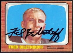 autographed 1966 topps fred biletnikoff