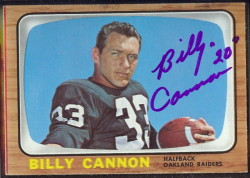 autographed 1966 topps billy cannon