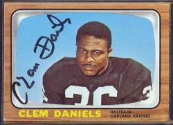 autographed 1966 topps clem daniels