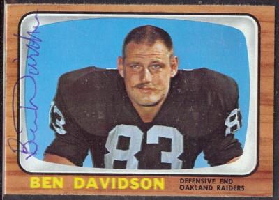 autographed 1966 topps ben davidson