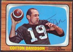 autographed 1966 topps cotton davidson