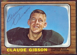 autographed 1966 topps claude gibson