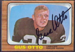 autographed 1966 topps gus otto