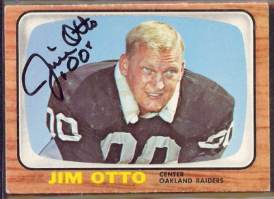 autographed 1966 topps jim otto