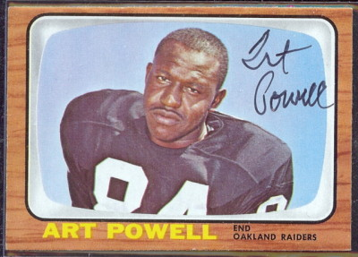 autographed 1966 topps art powell