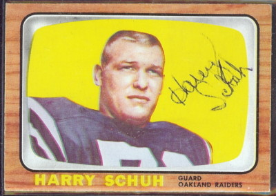 autographed 1966 topps harry schuh