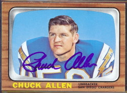 autographed 1966 topps chuck allen