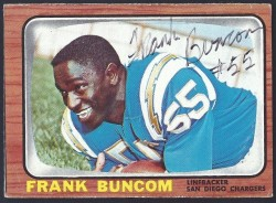 autographed 196 topps frank buncom