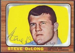 autographed 1966 topps steve delong