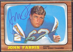 autographed 1966 topps john farris