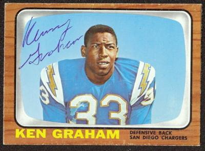 autographed 1966 topps ken graham