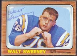 autographed 1966 topps walt sweeney