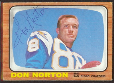 autographed 1966 topps don norton