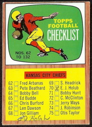autographed 1966 topps checklist