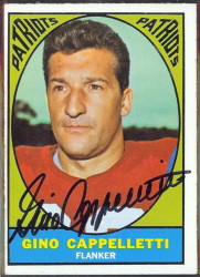 autographed 1967 topps gino cappelletti