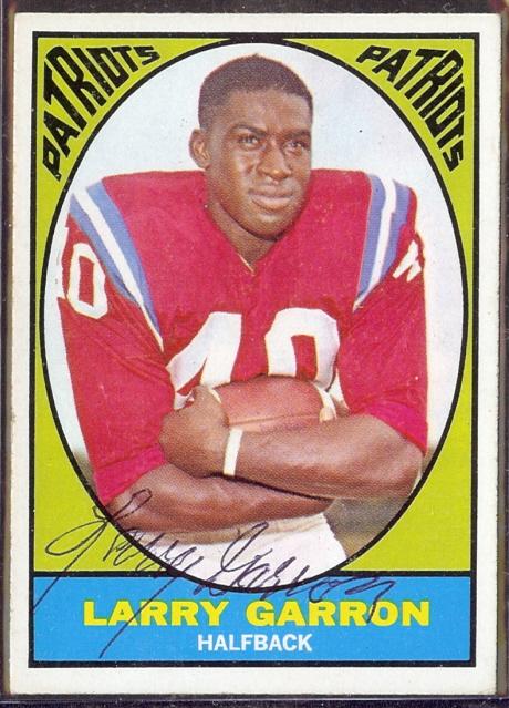 autographed 1967 topps larry garron
