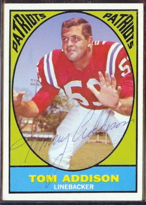 autographed 1967 topps tom addison