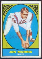 autographed 1967 topps jon morris