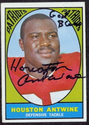 autographed 1967 topps houston antwine