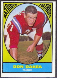 autographed 1967 topps don oakes