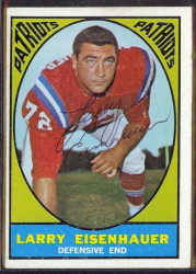 autographed 1967 topps larry eisenhauer