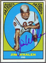 autographed 1967 topps jim whalen