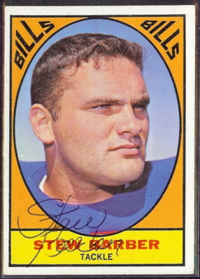 autographed 1967 topps stew barber