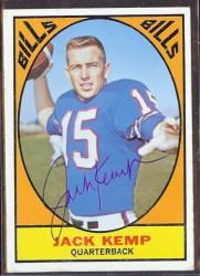 autographed 1967 topps jack kemp