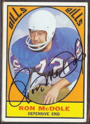 autographed 1967 topps ron mcdole
