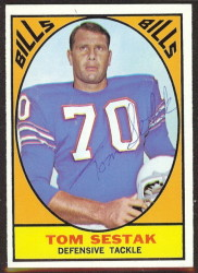 autographed 1967 topps tom sestak