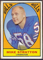 autographed 1967 topps mike stratton