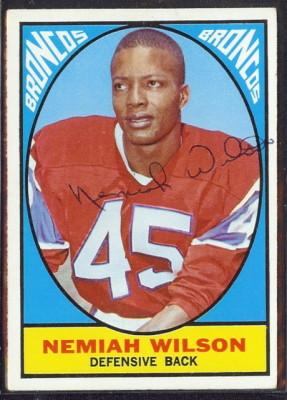 autographed 1967 topps nemiah wilson
