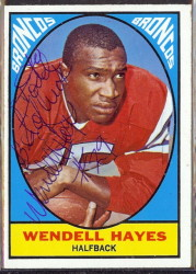 autographed 1967 topps wendell hayes