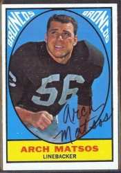 autographed 1967 topps arch matsos